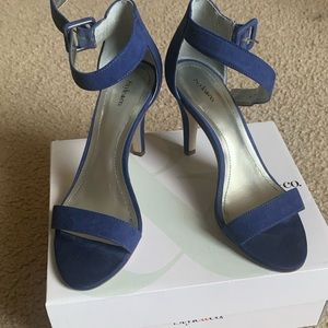 Size 7 blue heel sandals